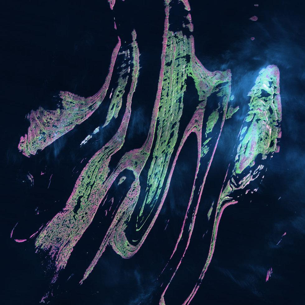 地球资源卫星5号30年内航拍图片精选