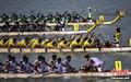 高清:亚运会龙舟开赛 中国13岁鼓手上阵