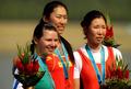 高清:女子单人双桨A组决赛 中国唐宾摘金