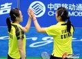 中国夺羽球女双冠亚军