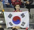 韩国最可爱女球迷助威