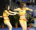 高清:乒乓球宝贝炫舞全场 动感活力点燃赛场