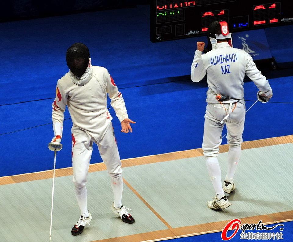 中国VS哈萨克斯坦(5)-重剑男团半决赛 中国40 45哈萨克斯坦