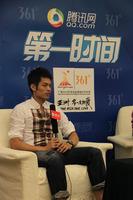 组图:林丹做客腾讯第一时间 全力支持谢杏芳