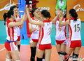 高清:亚运会女排小组赛 中泰激烈对战
