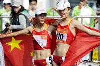 高清:女子20公里竞走 刘虹夺冠李燕飞季军