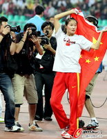高清:亚运会女子撑杆跳决赛 李彩霞夺冠