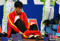 刘翔110米栏赛前准备