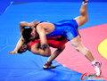 高清:男子自由式摔跤 伊朗选手力擒对手夺冠