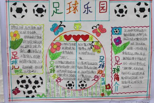 南坝小学校园足球节 书画作品展足球梦图片