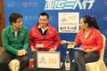 组图:彭勃做客亚运三人行 广州亚运会很精彩