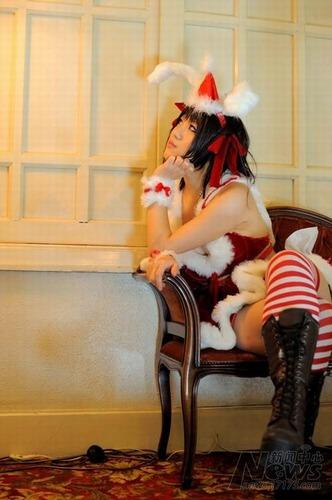 国外美少女 凉宫春日圣诞老人cos诱惑