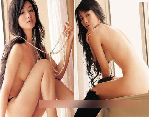 组图:女星裸身露胸不露点