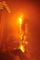 沈阳一五星级酒店发生大火 疑因燃放烟花所引致