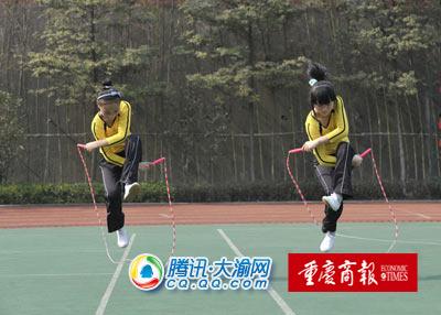 小学生花样跳绳展示-记者徐元宾摄图片