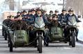 新疆女民兵组建摩托车队
