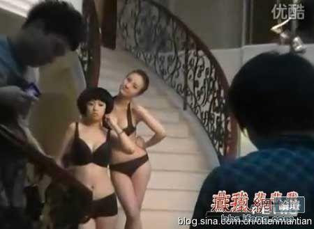 女模全裸视频遭曝光 拍性感写真保护乳房