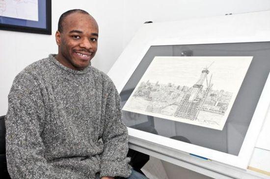 震惊!英国画家凭记忆手绘大都市