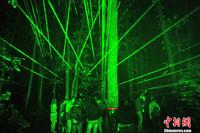 组图:罗马尼亚巴洛泰什蒂森林激光舞会