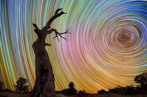 风光摄影:星之轨迹 - 海阔山遥 - .