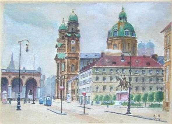 希特勒绘画作品欣赏 知乎精选 第21张