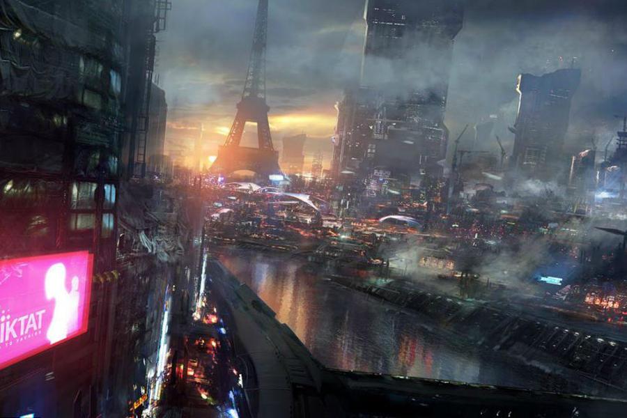 法国设计师描绘2084年未来城市情景
