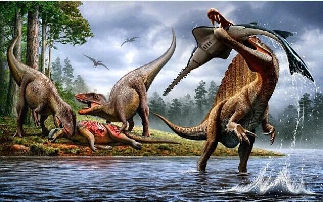 棘龙和霸王龙,谁是恐龙之王?萧山哪里可以v恐龙娃娃机图片
