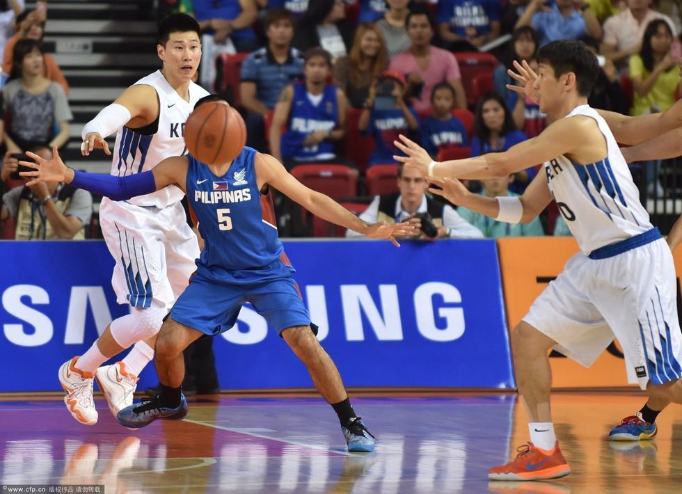 川亚运会第8日篮球男子复赛,韩国Vs菲律宾.-高清 2014仁川亚运