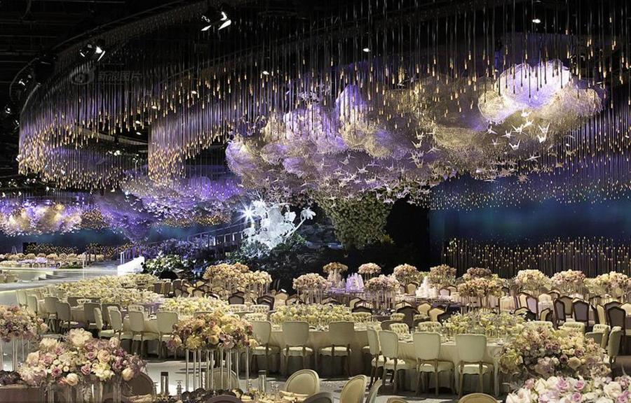 迪拜土豪级婚礼 6亿5千万颗水晶装饰