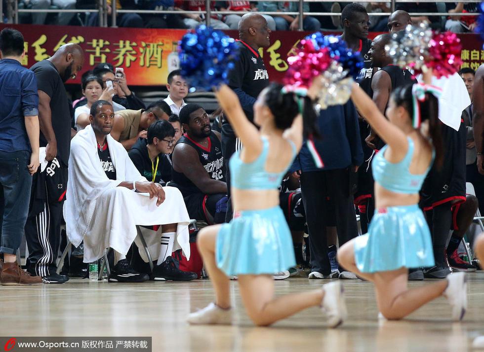2014年世界篮球明星赛武汉站,麦迪美国明星队vs福建浔兴,性感篮