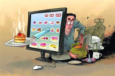 央视报道称,一些在网上被授予高分的外卖店竟是无证无照的黑作坊。
