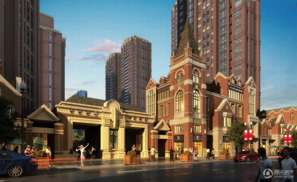 米,由9栋纯正art-deco建筑高层、1栋金融写字间组成.建筑外立面图片
