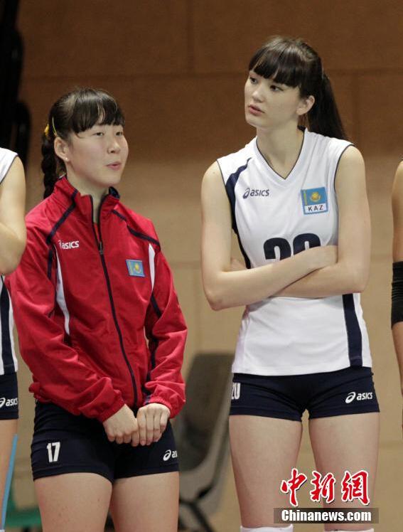 哈萨克斯坦美女排球手