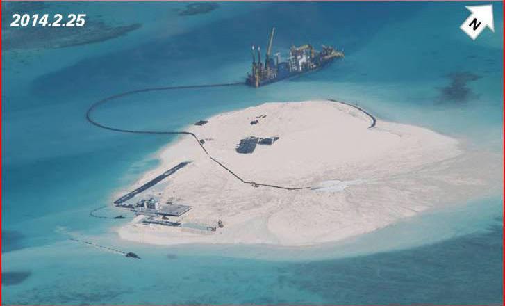 菲媒公开中国赤瓜礁扩建航拍图
