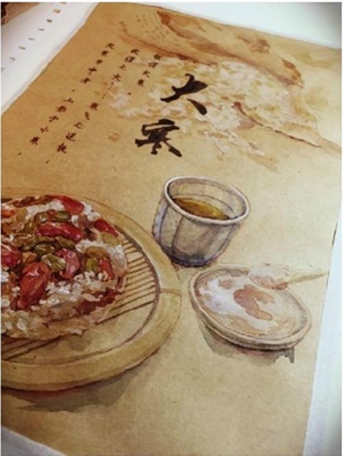 南大学才女手绘24节气美食图挑逗味蕾