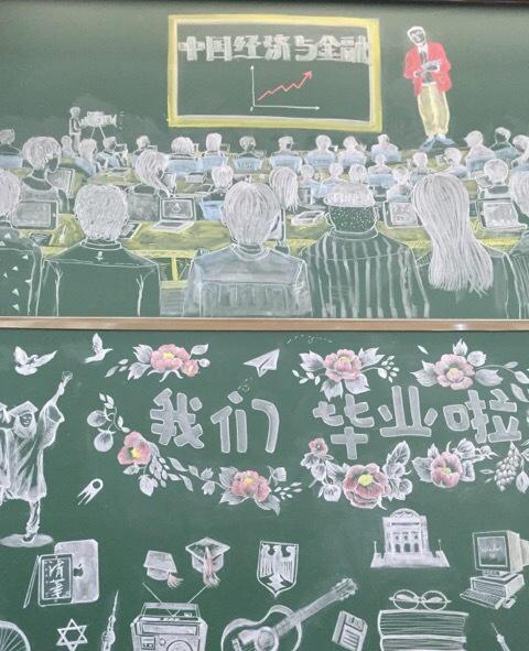 陈红毕业黑板报