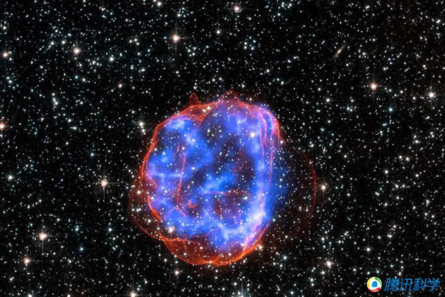【美宇航局发布巨型星体爆炸遗留残骸扩散图(图)】   2015年1月23日消息,美国宇航局   大麦哲伦星云中大质量星体爆炸后