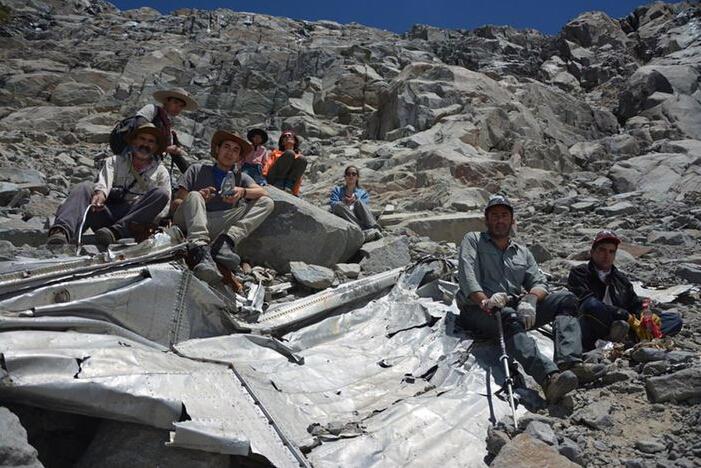 智利发现一失踪50余年飞机 残骸散落一地(图)