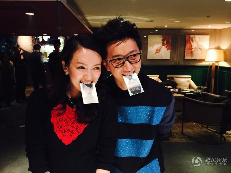 章子怡接受求婚后首露面与韩庚同庆生笑容灿烂