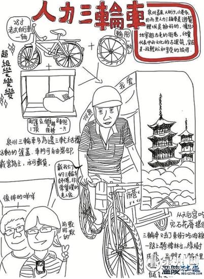 日本华裔手绘泉州寻家乡味