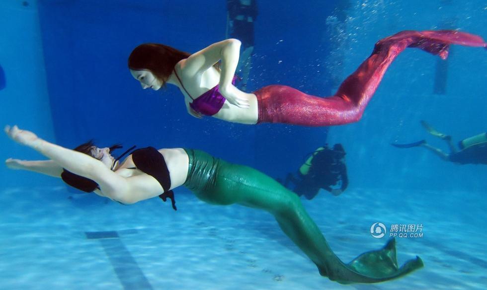 实拍加拿大美人鱼培训学校:不分年龄性别 - 海阔山遥 - .