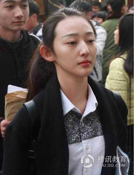 中戏艺考17岁软妹被赞女神 颜值爆表(高清图)