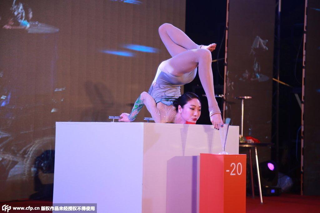 中国柔术第一美女走秀 柔若无骨令人称奇 - 云水禅心 - 云水禅心