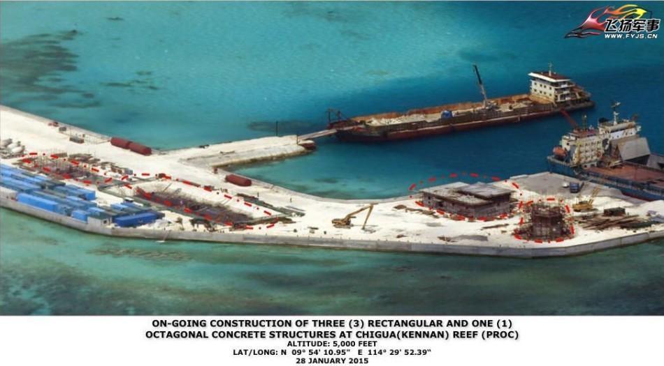 菲律宾发布我国南沙扩建工程最新航拍照 - 海阔山遥 - .