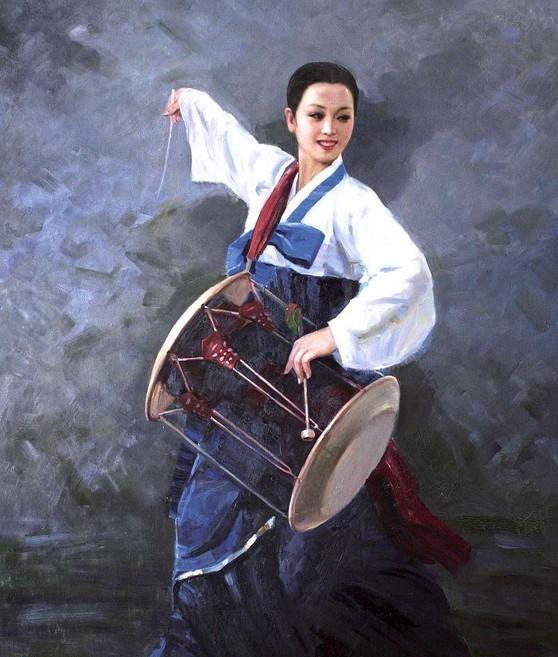朝鲜油画里的美女们 知乎精选 第1张