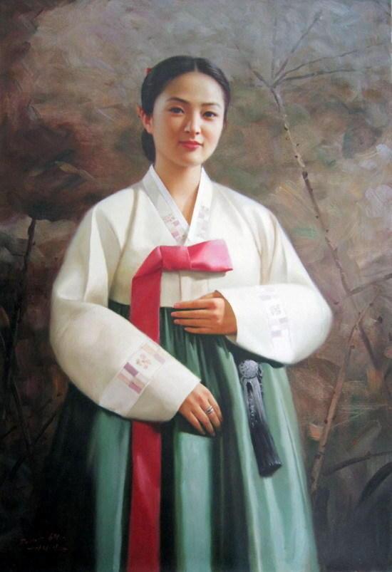 朝鲜油画里的美女们 知乎精选 第2张