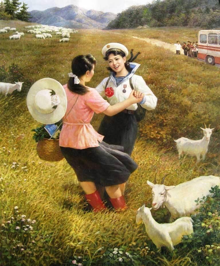 朝鲜油画里的美女们 知乎精选 第3张