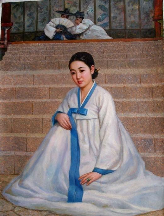 朝鲜油画里的美女们 知乎精选 第5张