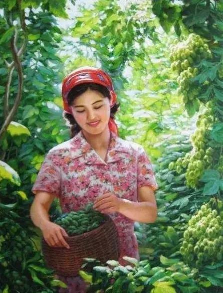 朝鲜油画里的美女们 知乎精选 第6张