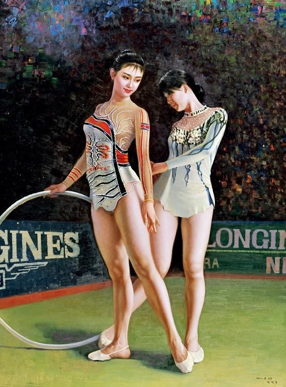 朝鲜油画里的美女们 知乎精选 第8张